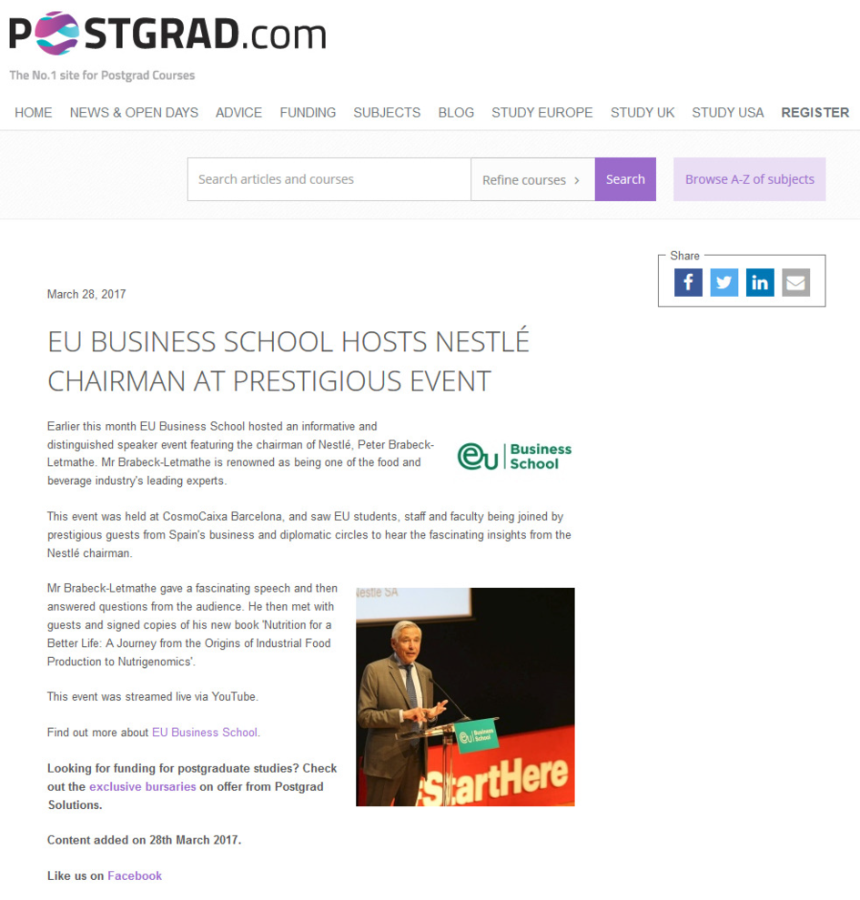 Postgrad.com - EU Business School Nestlé
