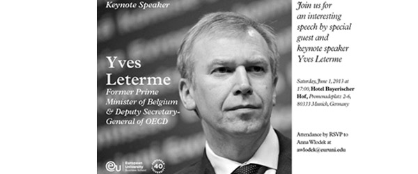 Yves Leterme to Speak at Munich Commencement Ceremony