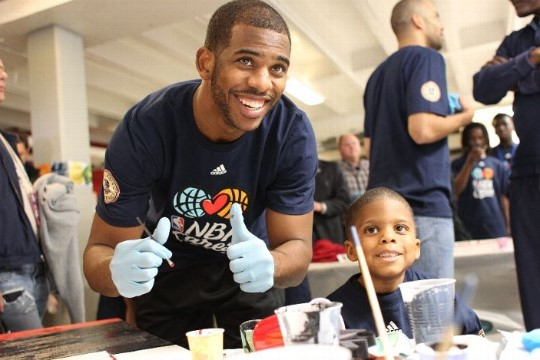 NBA All-Star Kyrie Irvin at NBA Care Day