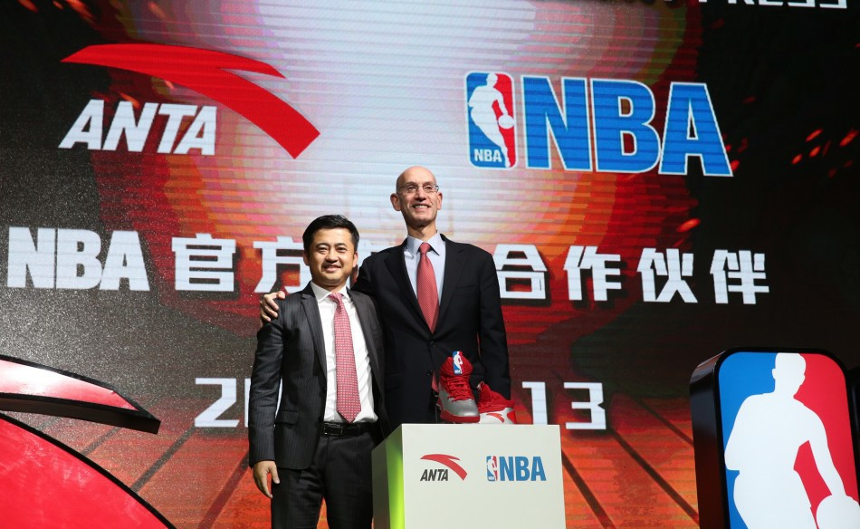 NBA Commissioner Adam Silver approving the NBA China Games