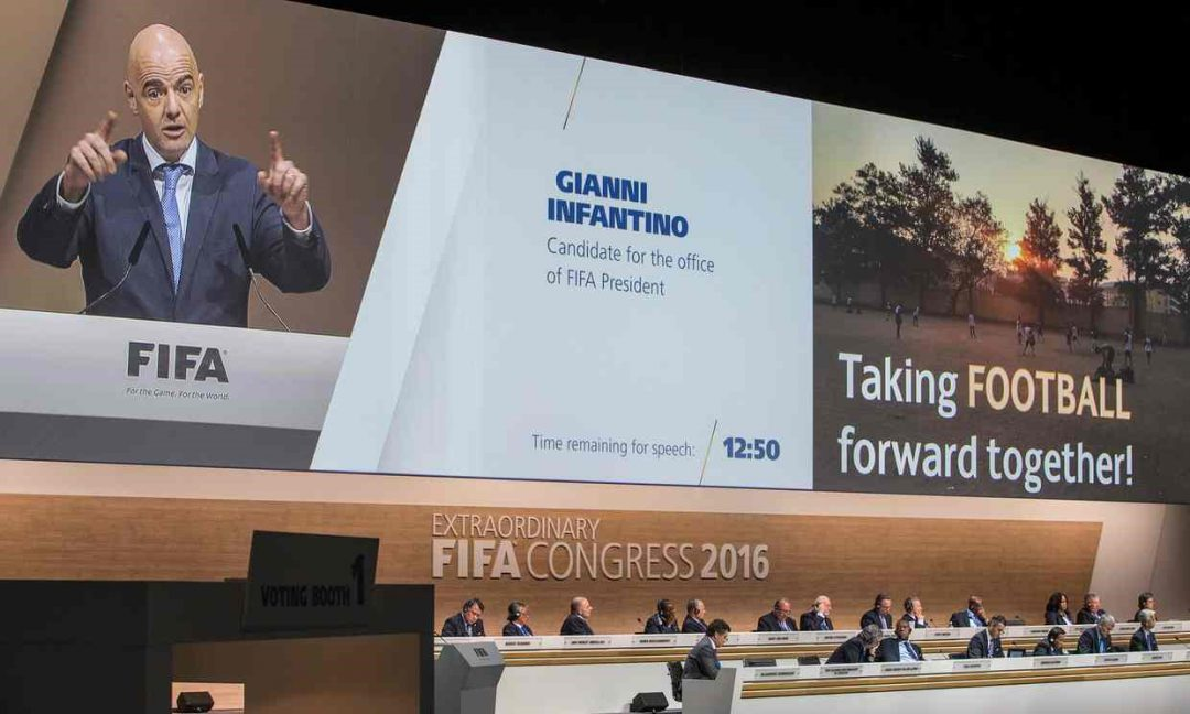Infantino is on a mission to rebuild FIFA's damaged reputation