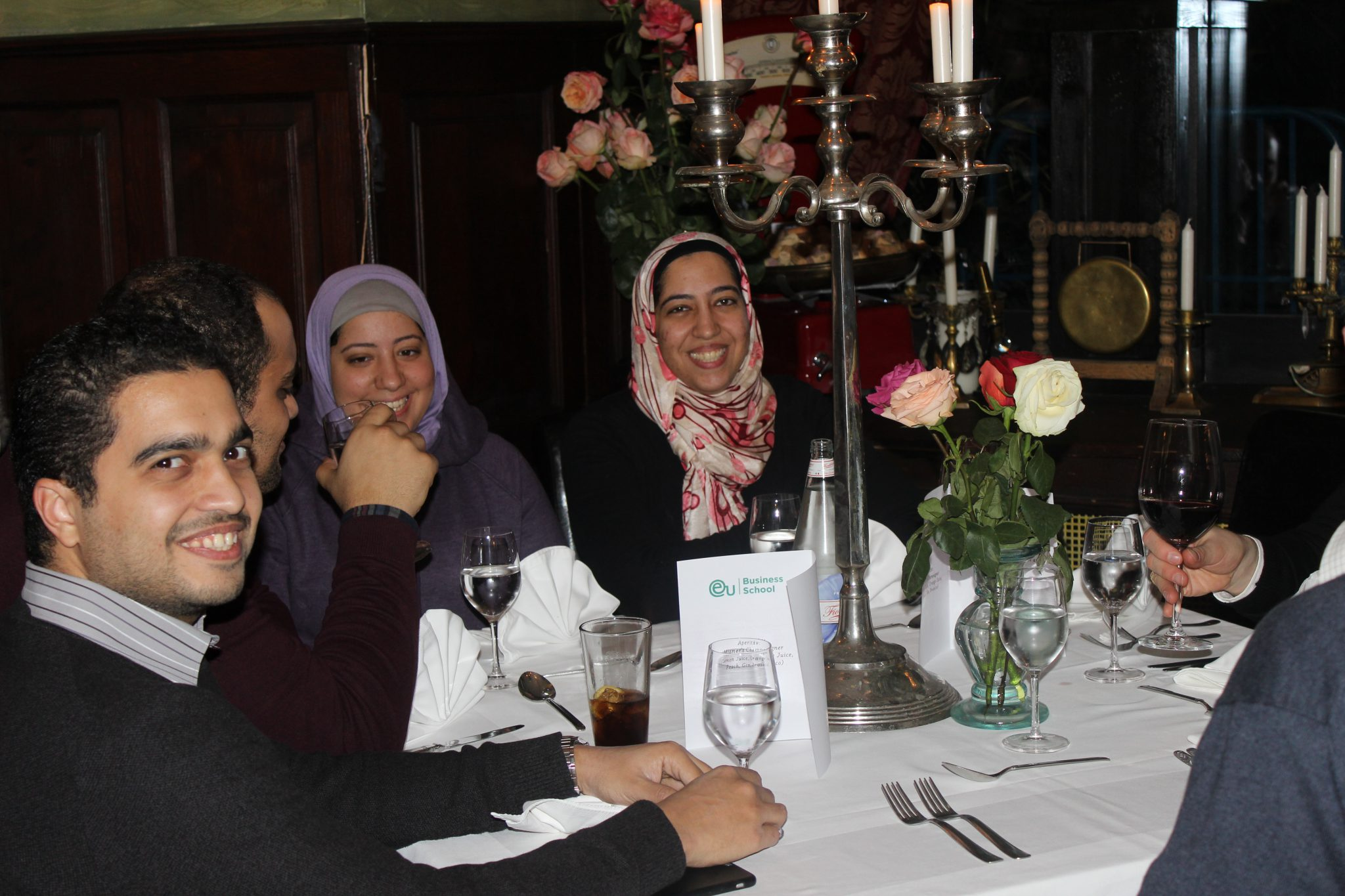 Social dinners give students a chance to relax in the company of their peers