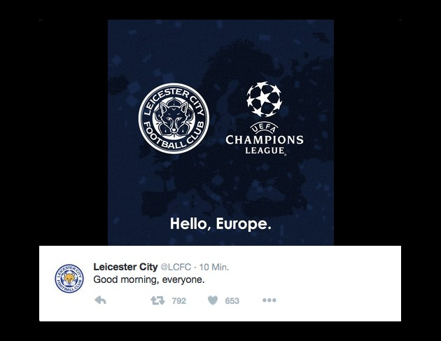 Leicester City back on the European stage