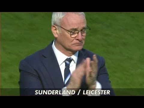 The tears of coach Claudio Ranieri after a crucial win