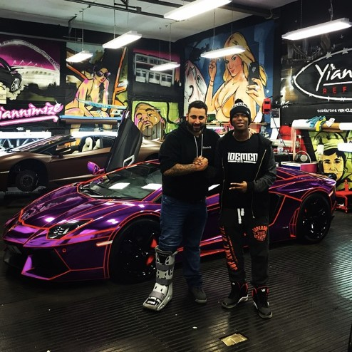 KSI (right), with his newly-tuned Lamborghini Aventador. YouTube has opened the door to many video games to pursue their passion and earn money doing what they love.