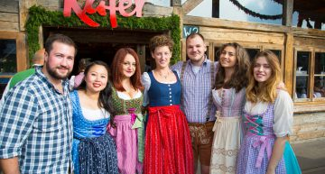 Lederhosen, Schnitzel and Cold Bavarian Beer at the 2016 Alumni Oktoberfest Event