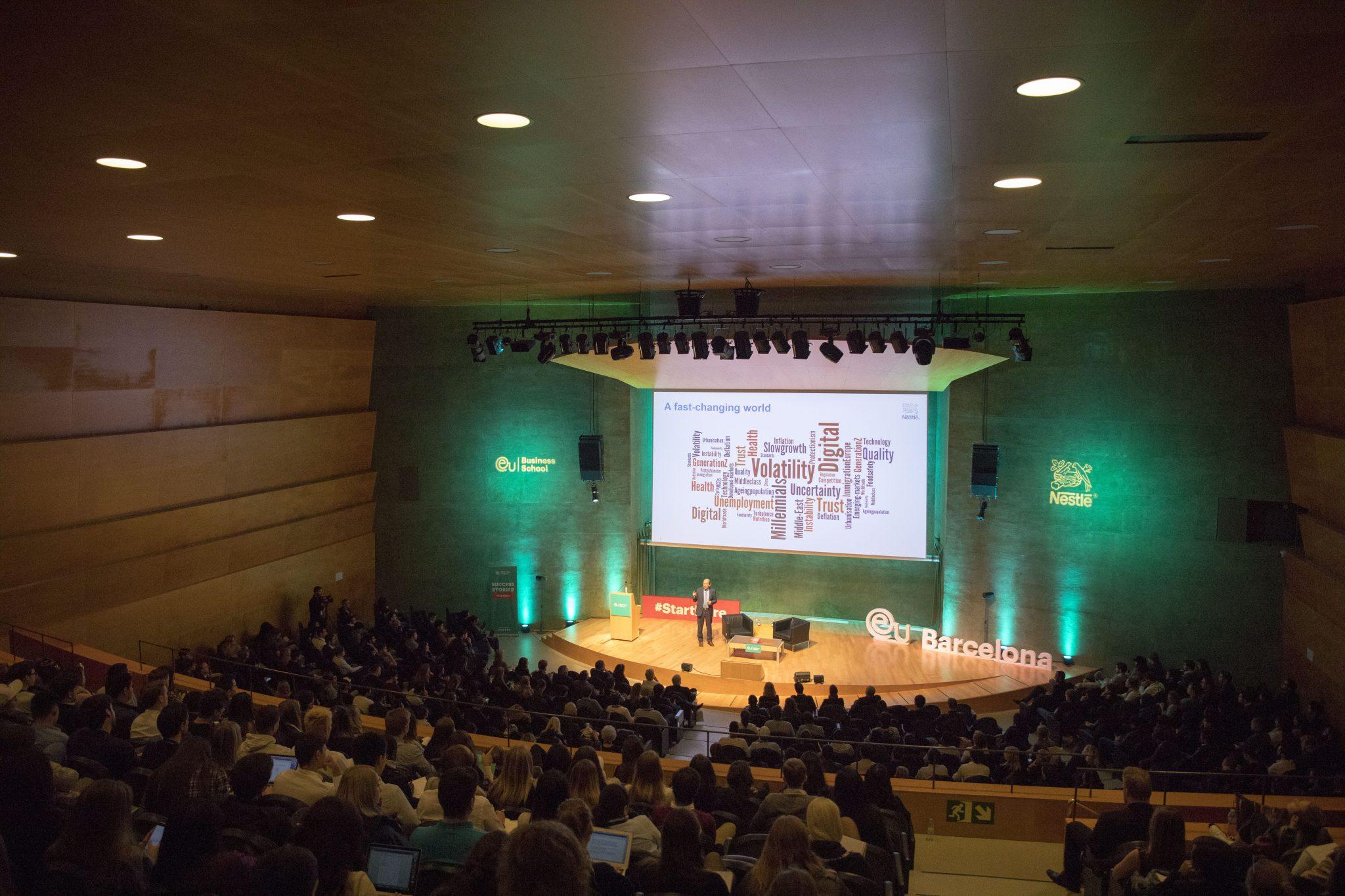 Nestlé Chairman Inspires Students in Barcelona