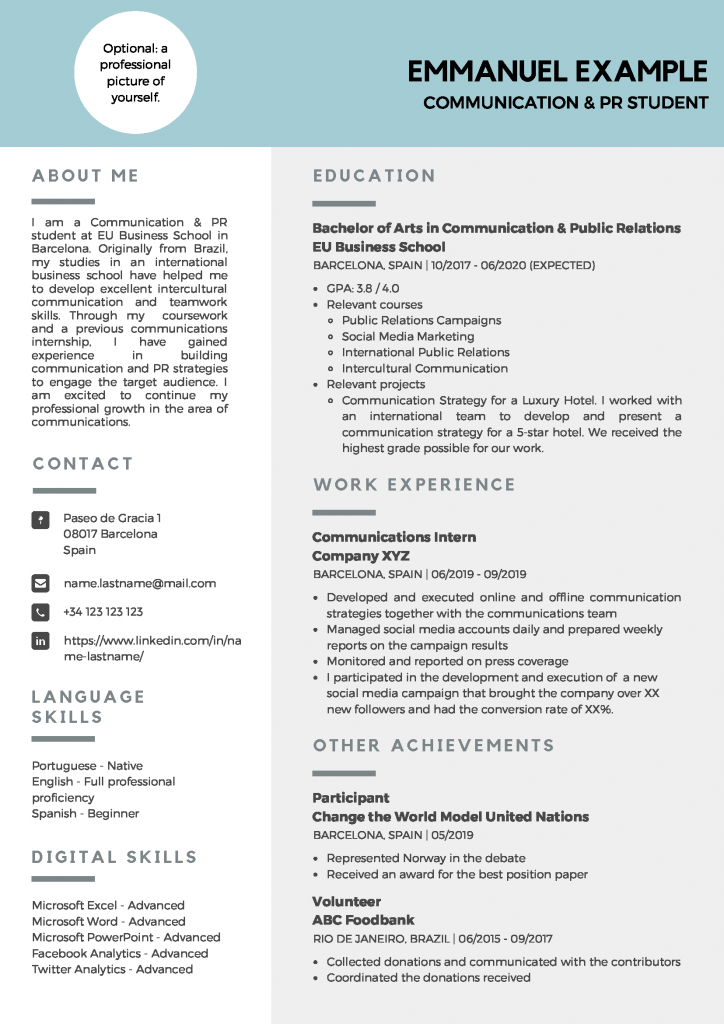 cv_emmanuel-724x1024 Sample Curriculum Vitae Cv Examples on